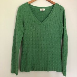 Loft green cable sweater